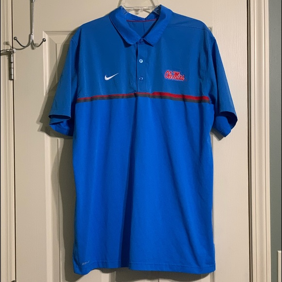 Nike Other - Nike Dri-Fit Ole Miss Rebels SEC NCAA Polo Shirt